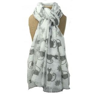 scarf cats cream
