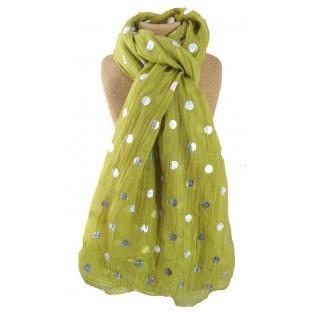 scarf dots mustard