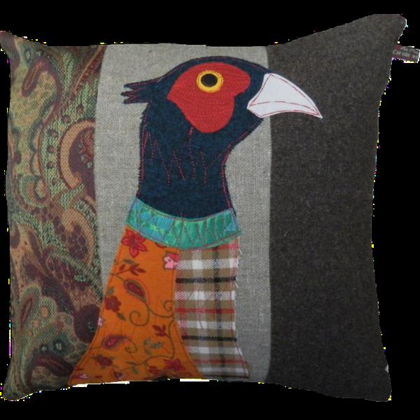 Pheasant-Blue-Cushion-by-Carola-van-Dyke-600×600