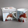 carola Van Dyke fox mug with box