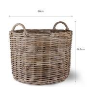 log basket dimension