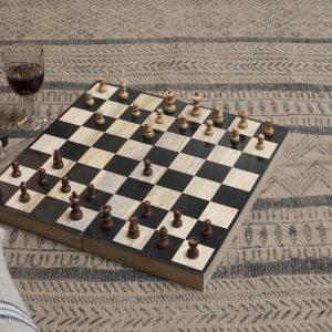 Mango Wood Chess & Draughts